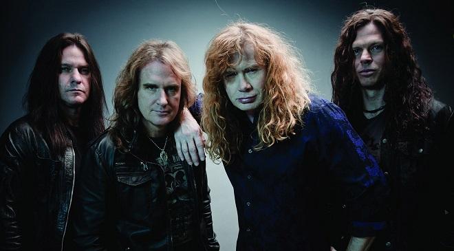 Презентация нового альбома Megadeth в Москве.